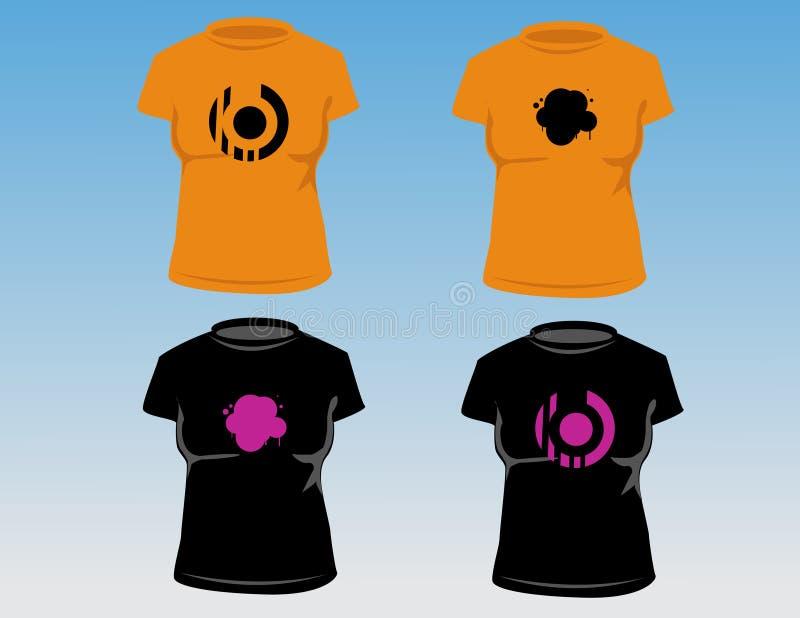 T-shirt das mulheres ilustração do vetor