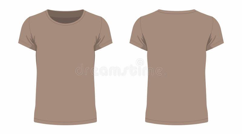 T-shirt de Brown ilustração stock