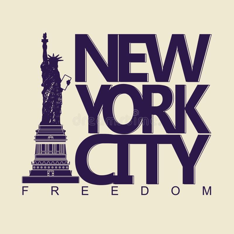 T-shirt de New York illustration de vecteur