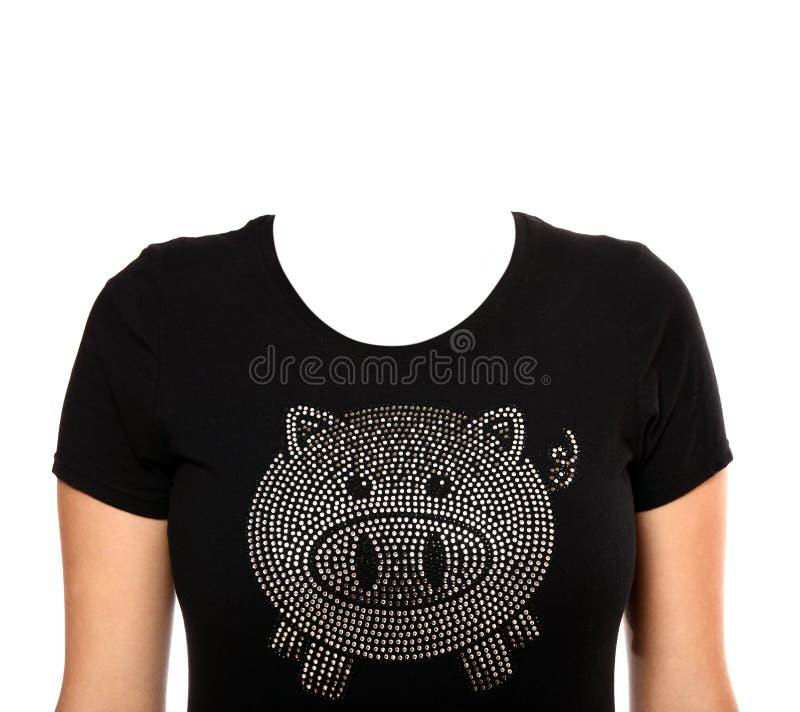 T-shirt de porc photos stock