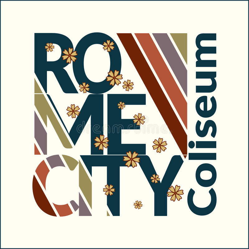 T-shirt de Roma para a mulher ilustração stock