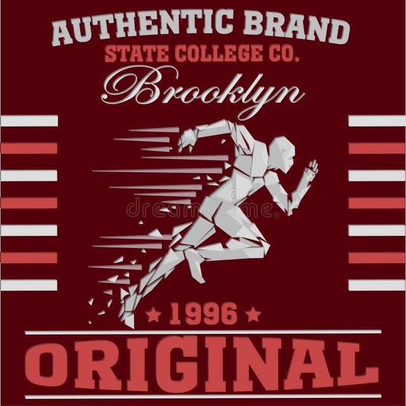 T-shirt de sport de New York illustration stock