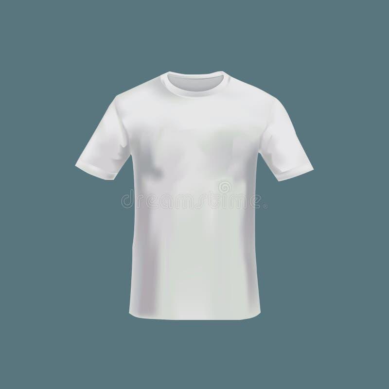 T-shirt des hommes s de maquette - tunique Le ` s d'hommes folâtre le T-shirt court de douille illustration de vecteur