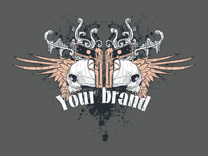 T-shirt Design Illustration Royalty Free Stock Photos