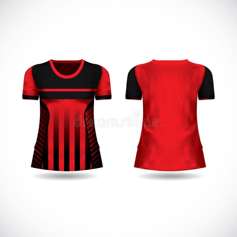 T-shirt design kit jersey template stock photo
