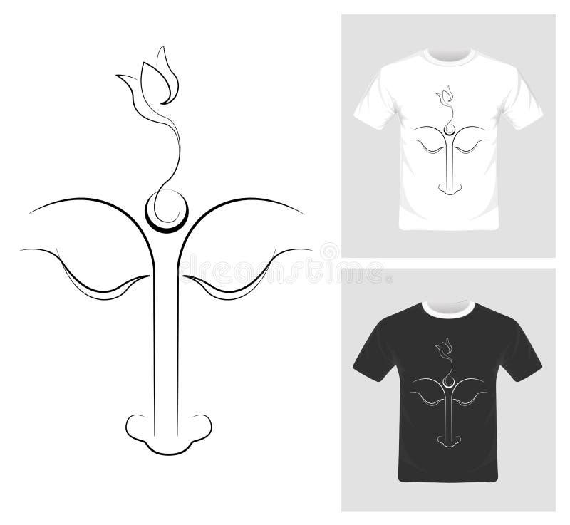 T-shirt graphic design vector illustration. stock illustration