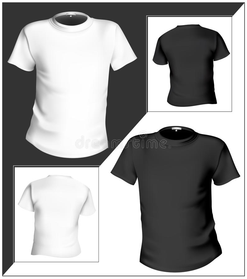 T-shirt Design Template (front & Back). Black And Stock