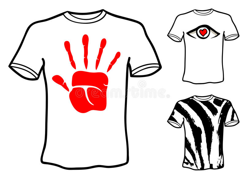 T shirt designs stock illustration