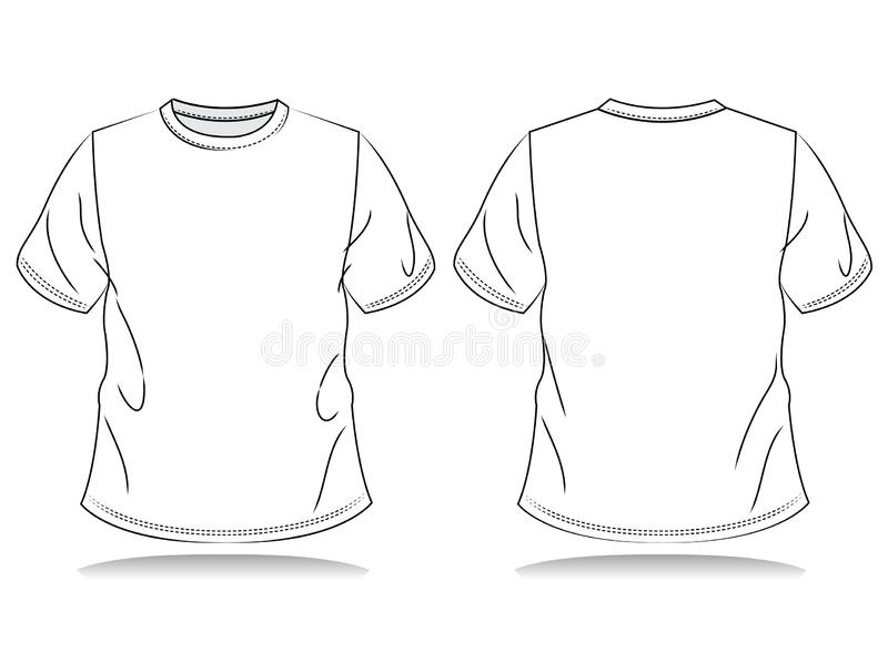 T-shirt di Blank Men illustrazione di stock
