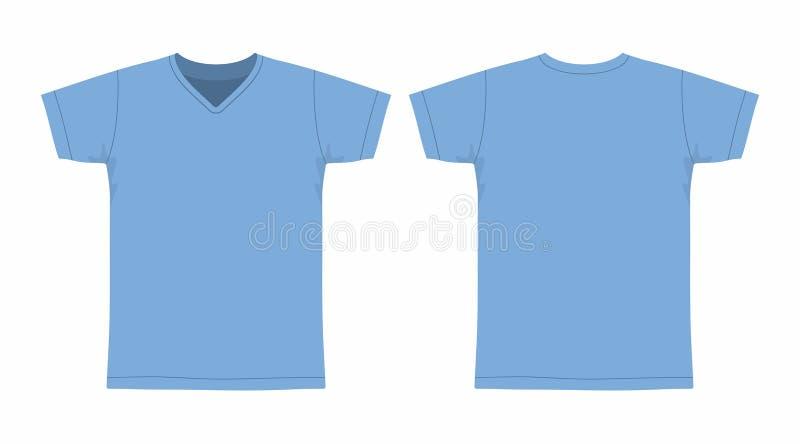 T-shirt do azul do ` s dos homens ilustração royalty free