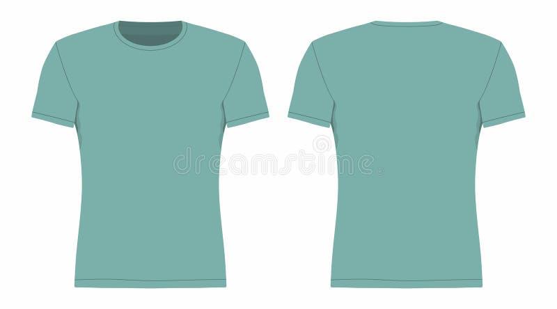 T-shirt do azul do ` s dos homens ilustração do vetor
