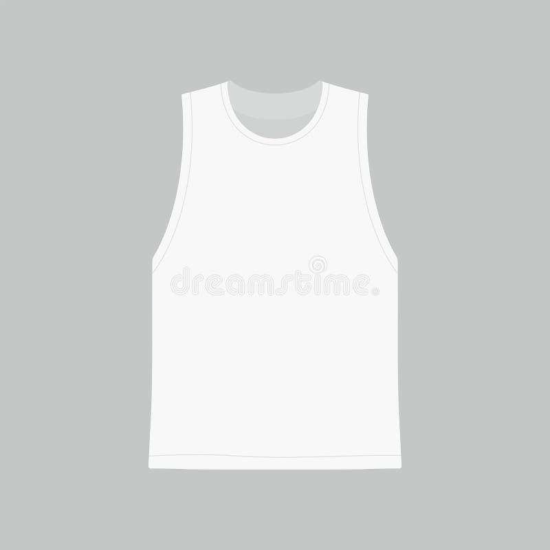 T-shirt do branco do ` s dos homens ilustração royalty free