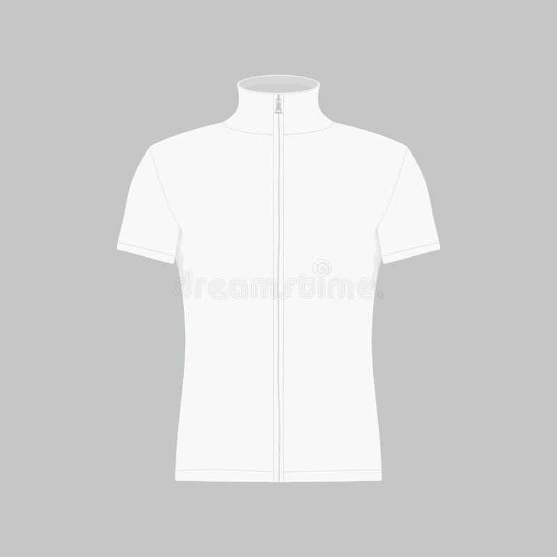 T-shirt do branco do ` s dos homens ilustração stock