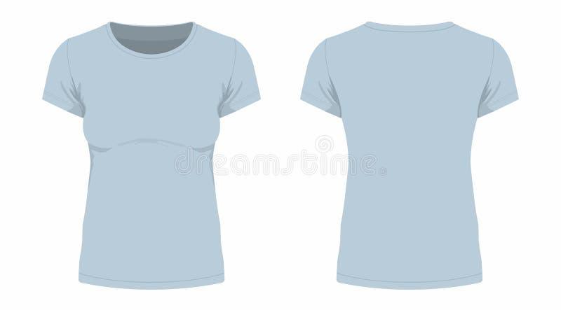 T-shirt do cinza do ` s das mulheres ilustração do vetor