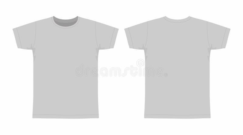 T-shirt do cinza do ` s dos homens ilustração royalty free