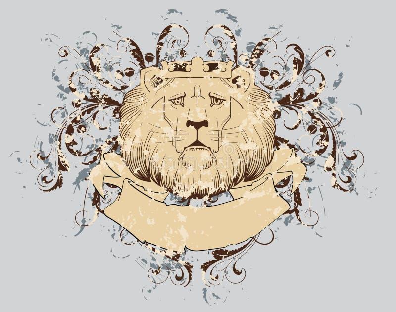 T-shirt do leão   ilustração stock