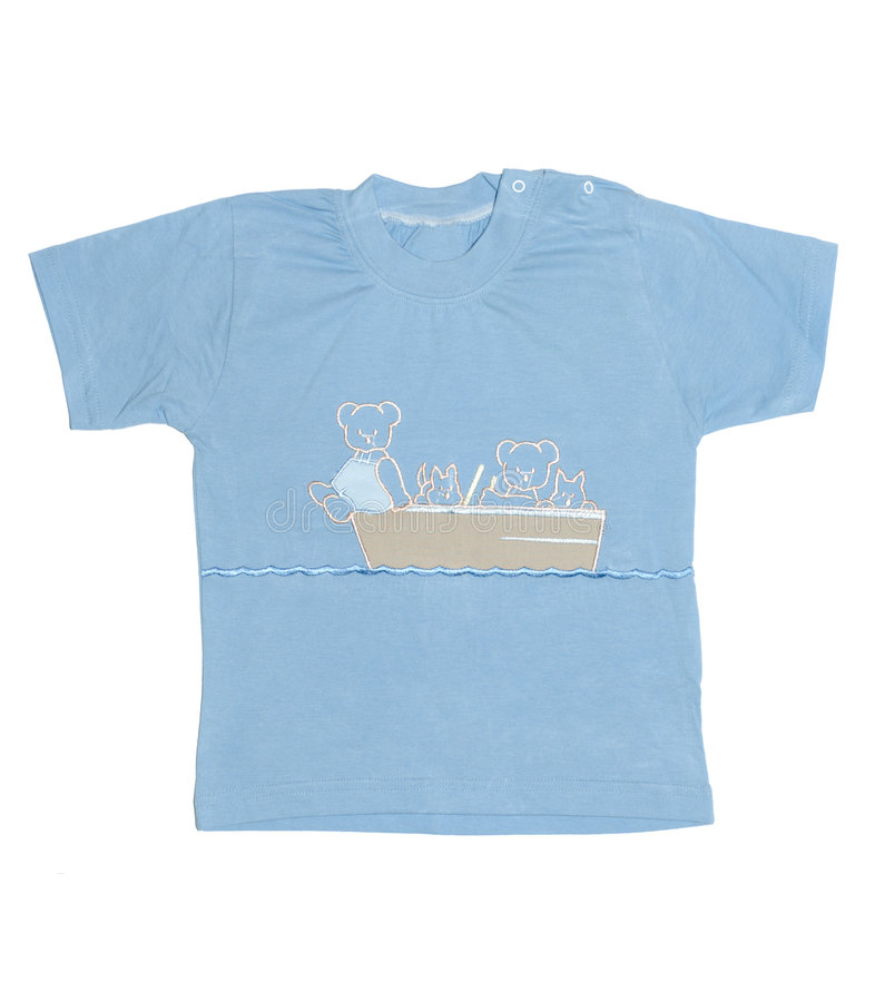 T-shirt do menino fotos de stock
