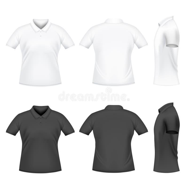 T-shirt do polo dos homens ilustração royalty free