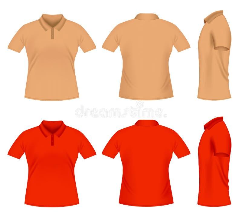 T-shirt do polo dos homens ilustração do vetor