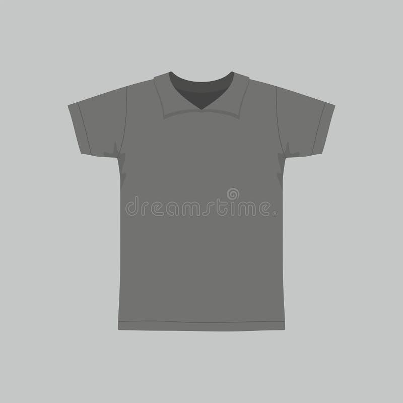 T-shirt do preto do ` s dos homens ilustração royalty free