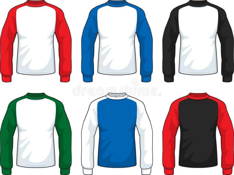 T-shirt do Raglan ilustração stock