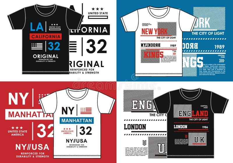 T-Shirt Drucken, Vektor-Bild stock abbildung