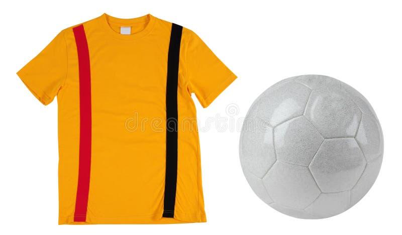 T-shirt du football. D'isolement photo libre de droits