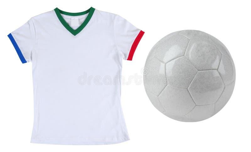 T-shirt du football. D'isolement image stock