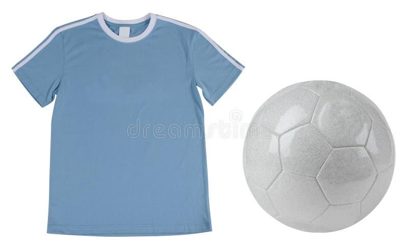 T-shirt du football. D'isolement image libre de droits
