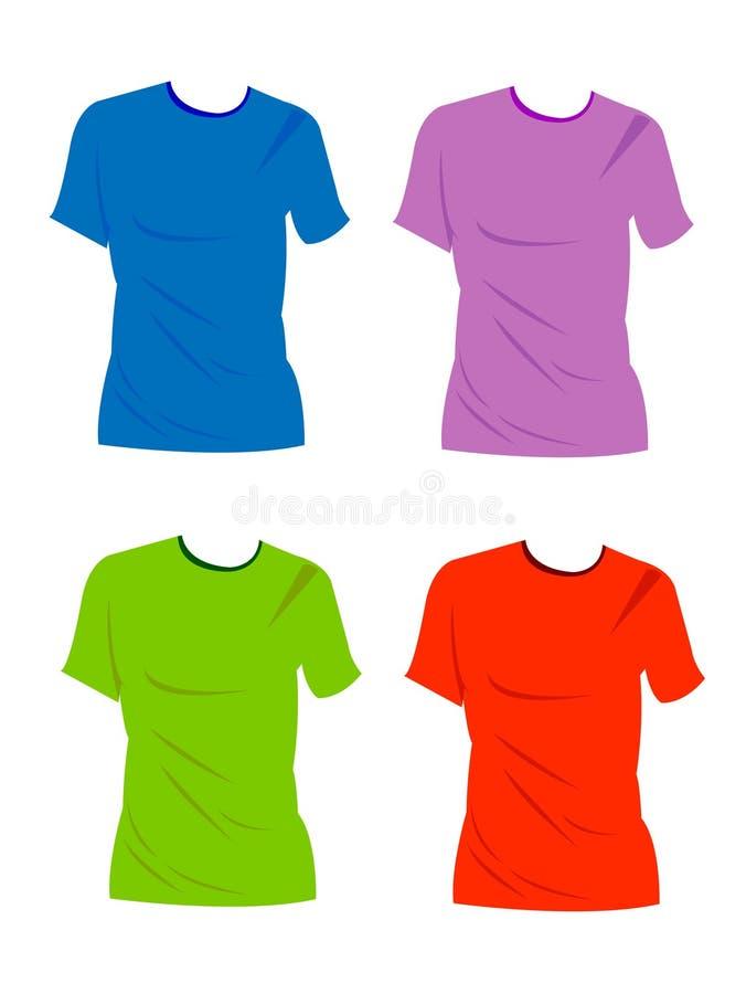 T-shirt em branco ilustração do vetor