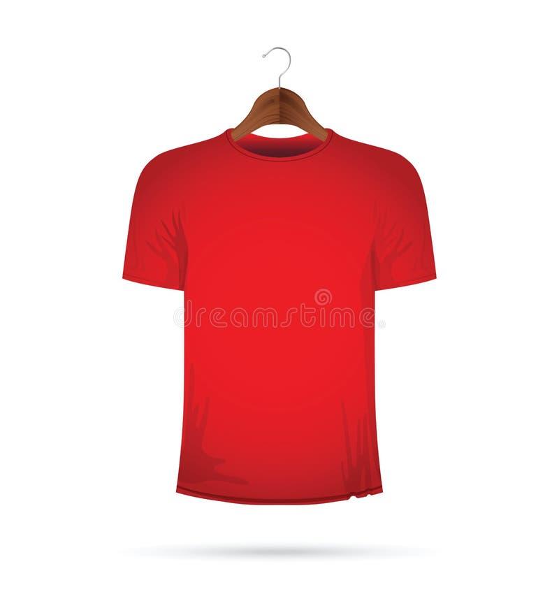 T-shirt em um gancho ilustração do vetor