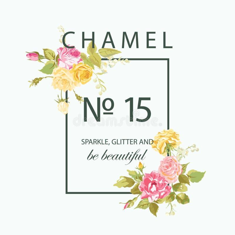 T-shirt Floral Graphic Design royalty free illustration