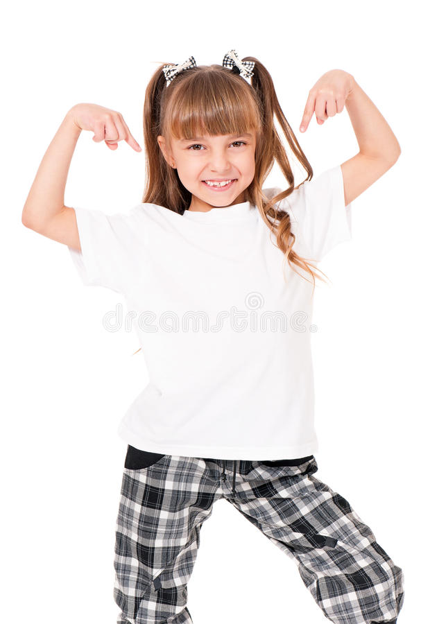 Download T-shirt on girl stock image. Image of model, person, cotton - 30565865