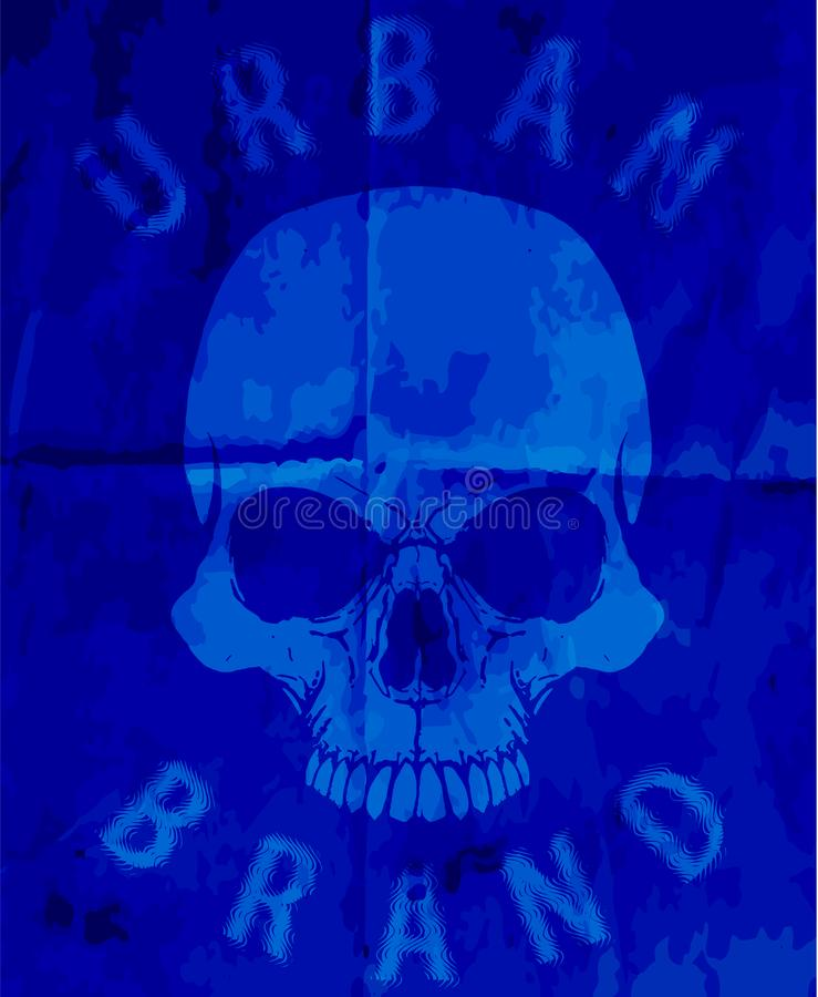 T-shirt Graphics, skull print, skull illustration, evil skull, c stock illustration