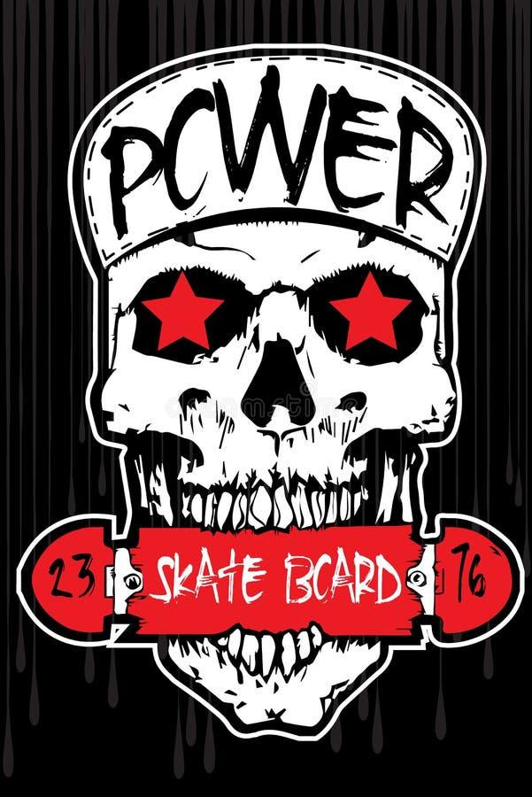 T-shirt Graphics/skull print/skull illustration/evil skull/concert posters/rock and roll themed graphic/Human skull for horror or royalty free illustration