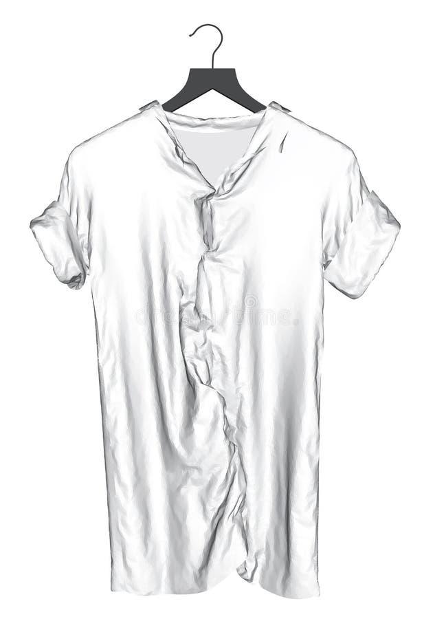 T-shirt het hangen op een hanger royalty-vrije illustratie