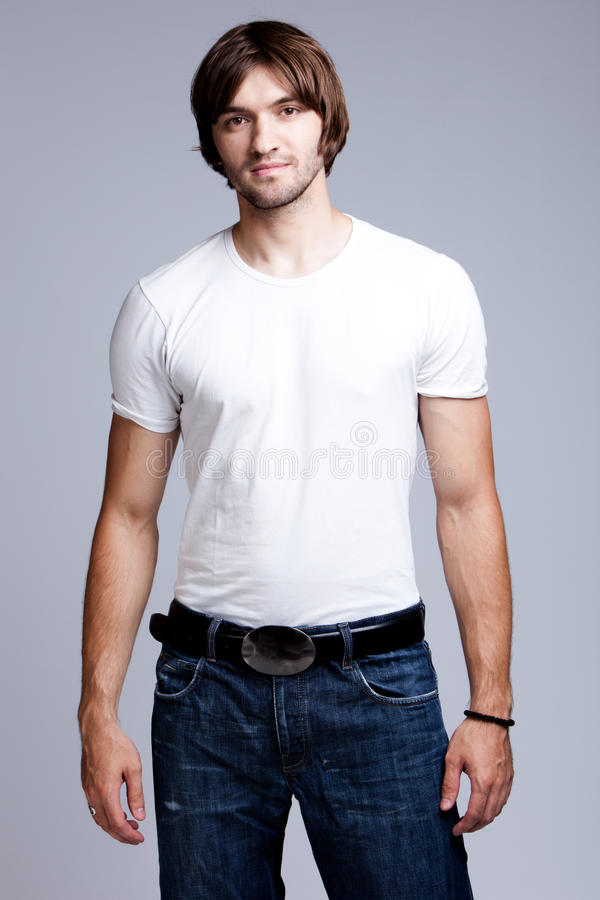 T-shirt And Jeans Stock Images