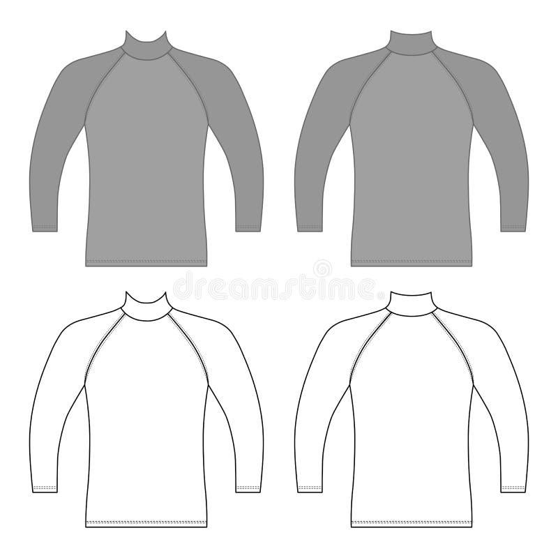 T-shirt longo do raglan da luva ilustração royalty free