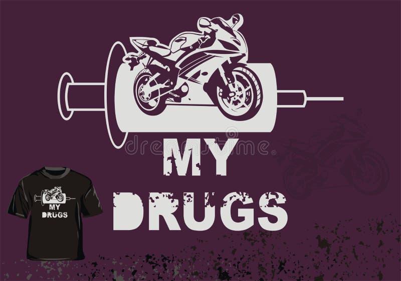 T shirt my drugs stock illustration