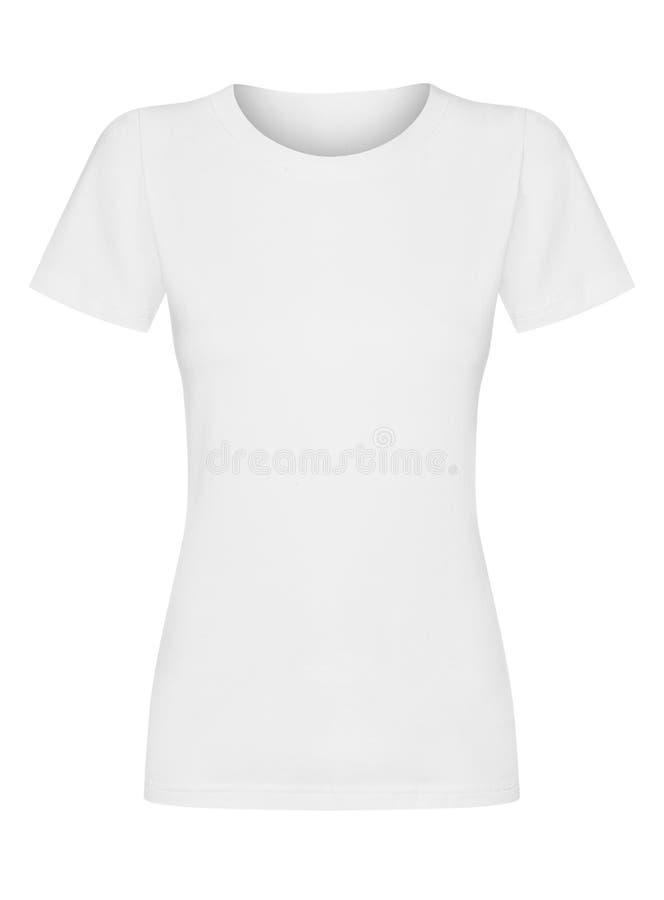 T-shirt op witte achtergrond wordt geïsoleerd die royalty-vrije stock foto
