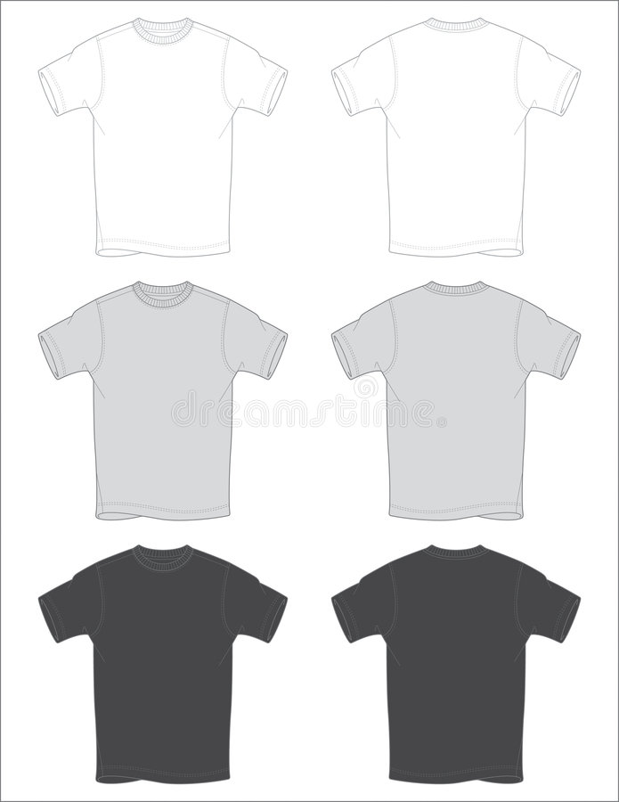 T-Shirt Outlines Vector stock illustration