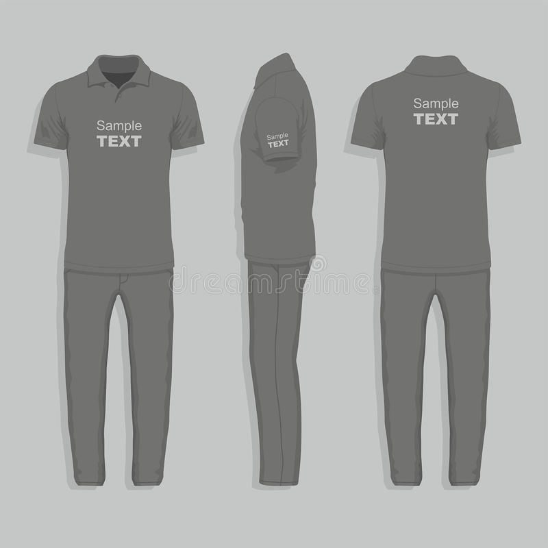 T-shirt and pants vector illustration