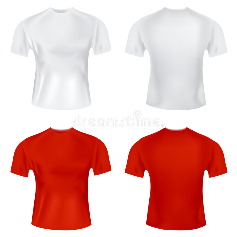 T-shirt para o vetor dos homens ilustração stock