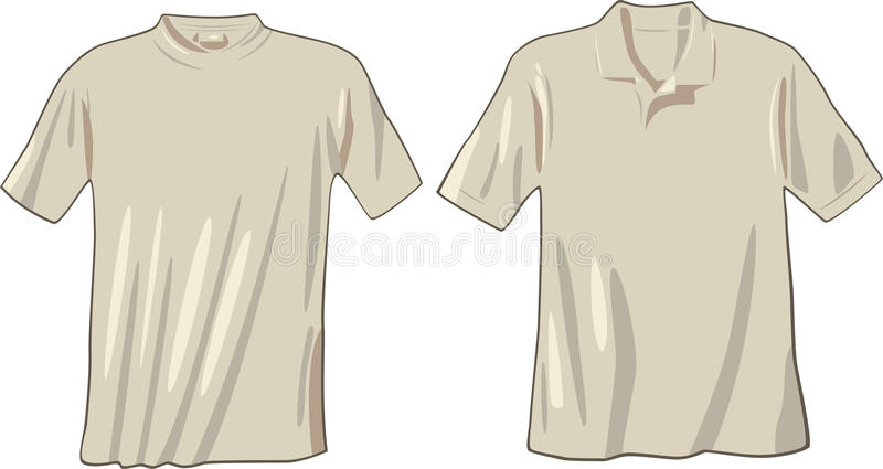 T-shirt and polo royalty free illustration