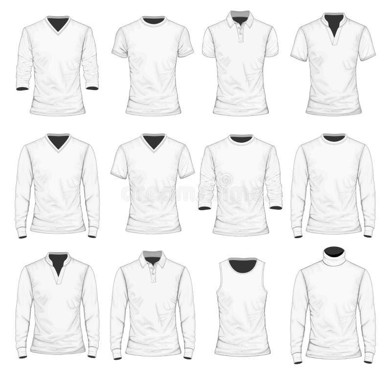 T-Shirt Polohemd und andere Kleidung stock abbildung