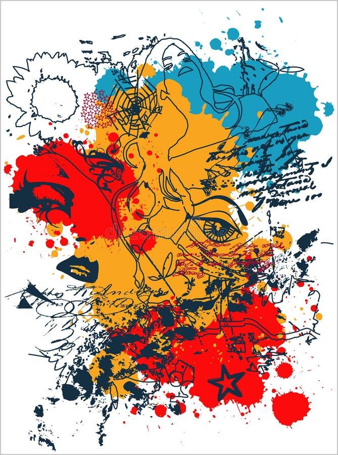 Download T-Shirt Print ARTWORK stock illustration. Illustration of half - 6953094