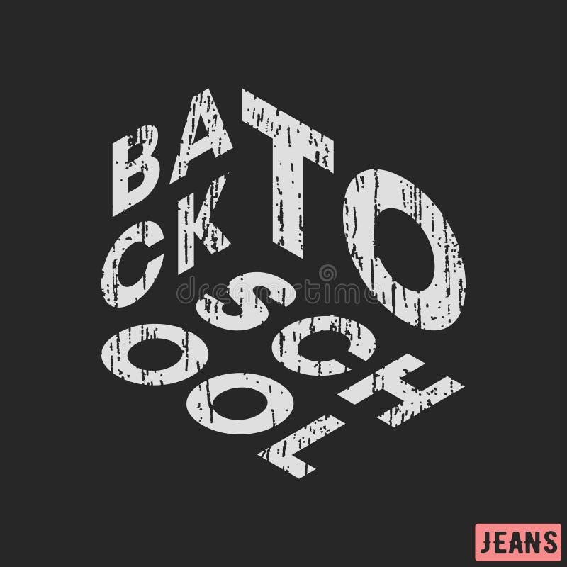 T-shirt print design. Back to school vintage stamp. Printing and badge, applique, label, t shirts, jeans, casual and urban wear. T-shirt print design. Back to vector illustration