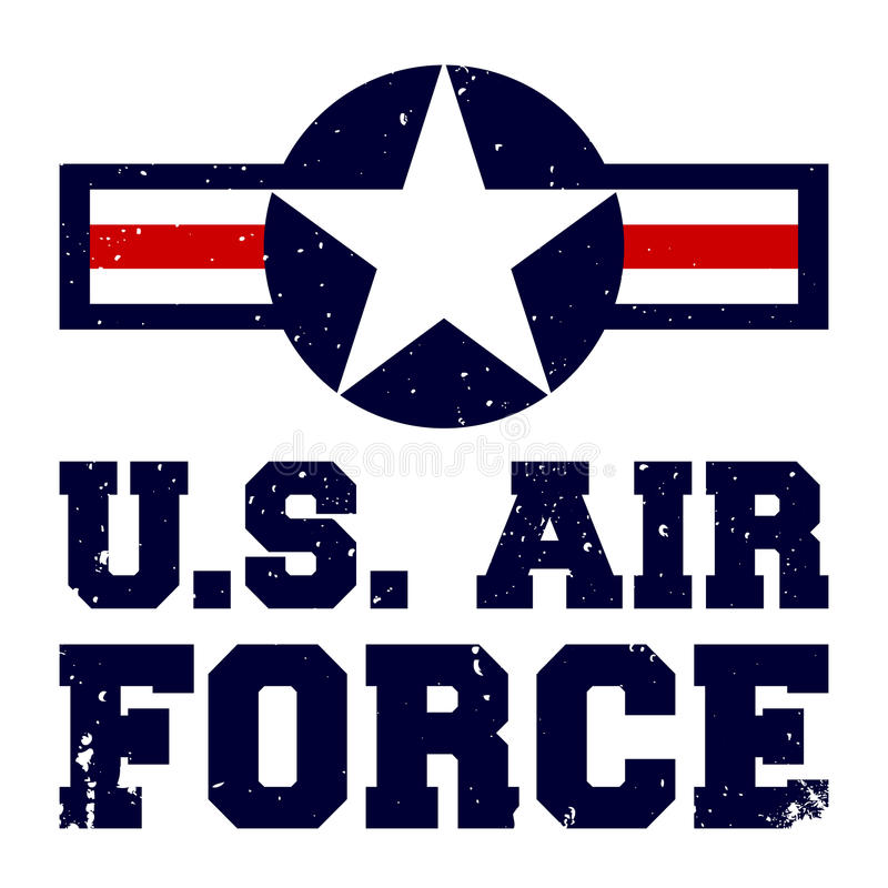 T-shirt print design U.S. Air Force stock illustration