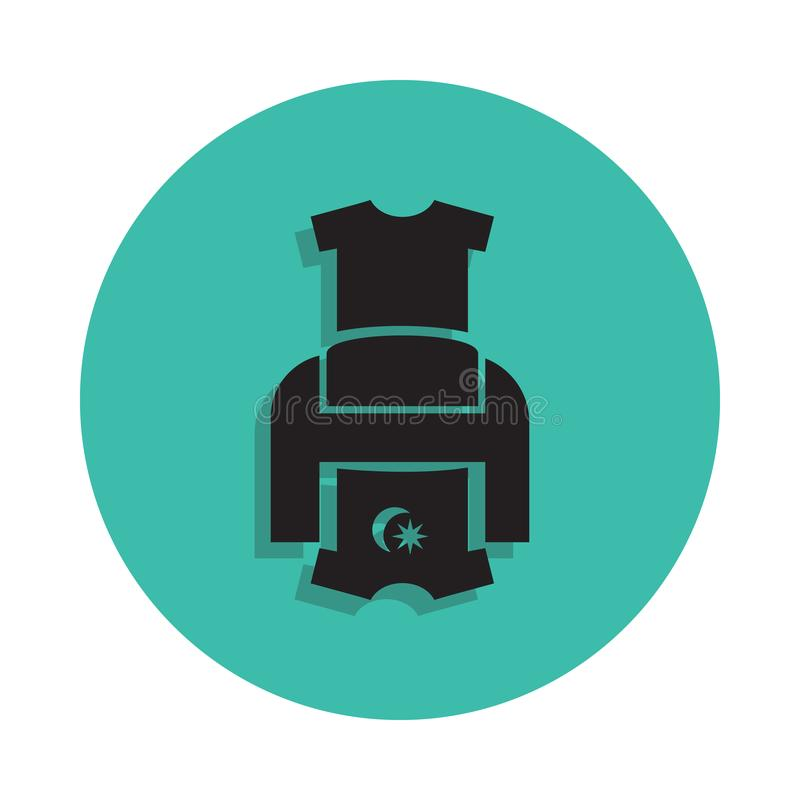 T-shirt printer icon. Element of printing house for mobile concept and web apps icon. Thin line icon with shadow in badge for webs stock illustration