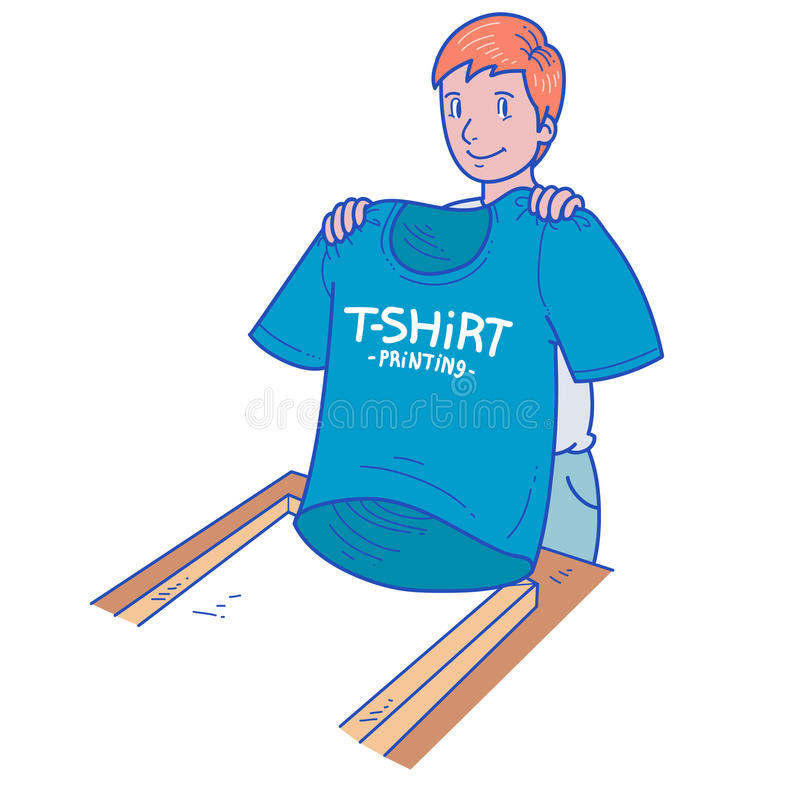 T-shirt printing royalty free illustration